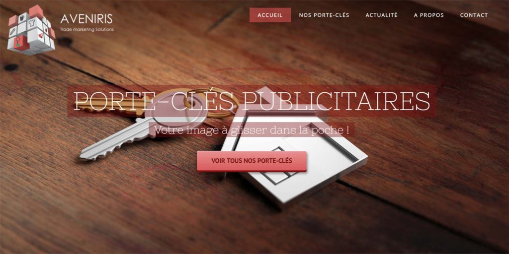 Porte-clés publicitaire website